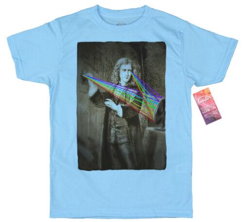 prism Isaac Newton T shirt Design multicoloured spectrum