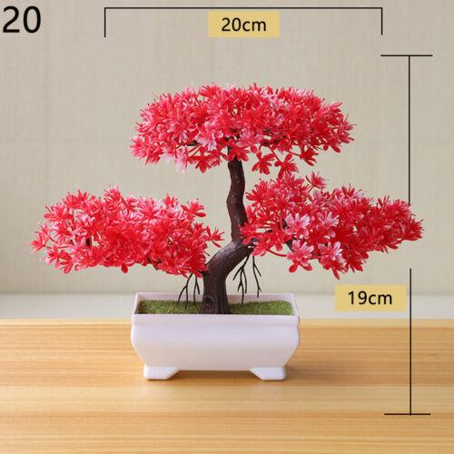 1PC Simulation Plants Pot Flowers Plastic Decor Artificial DIY Casual One Size