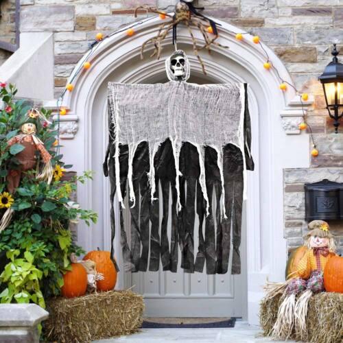 Skull Halloween Hanging Ghost Haunted House Grim Reaper Horror Props Door Decor