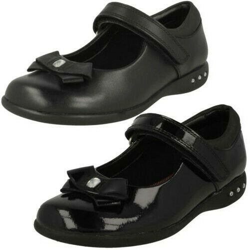 Clarks Girls Bow Detail School Shoes