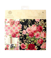 Anna Griffin Rose 6 X 6 Paper Pad || Gorgeous Pink Roses Red Roses