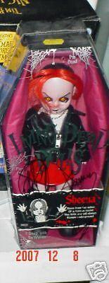 Mezco Toyz Living Dead Dolls sheena autographed RARE
