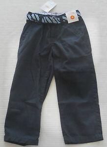 GYMBOREE Boy's Uniform Shop Navy Belted Wrinkle Free Pants Size 4