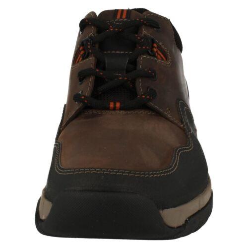 Hombre Clarks Impermeable Cuero Cordones Zapatillas Edge Walbeck Caminar Pw4ZC