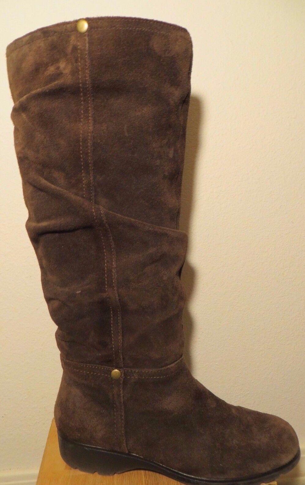 Braun Suede Leder Aerosole Stiefel Größe 8