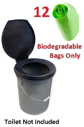 Portable Camping Toilet Composting Biodegradable Bags for Loo To Go  Allotment