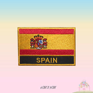 Spain National Flag Embroidered Iron On Patch Sew On Badge Applique