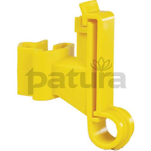 Patura Weidezaunband-Isolator für T-Pfosten 25er Pack in schwarz oder gelb