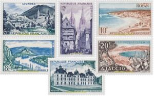 EBS-France-1954-Tourism-Landscapes-and-places-of-interest-YT-976-981-MNH