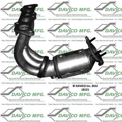 Manifold Front Davico Exc CA 18210 Catalytic Converter-Exact-Fit