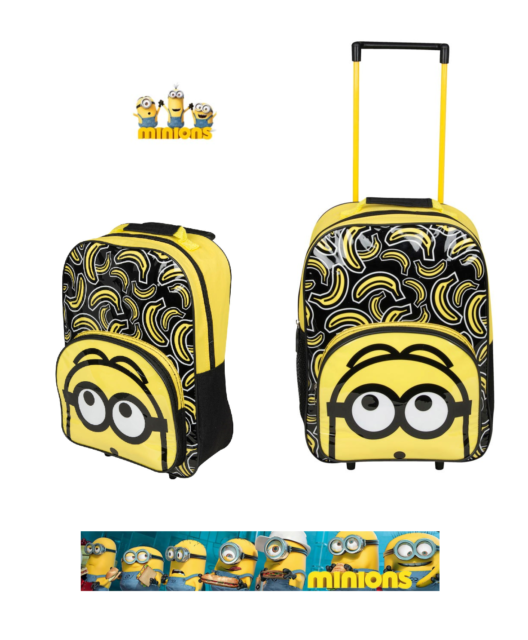 f24f7805881f Official Minions Despicable Me 3 Trolley Suitcase Boys Kids Travel Bag  Holiday