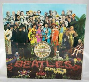 The-Beatles-SGT-Pepper-Record-Mono-1967-1ST-UK-Pressing-Parlophone-PMC-7027