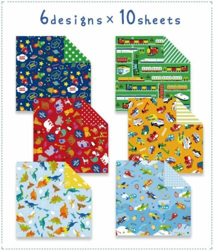 60 x Fun Design Japanese Origami Papers Holiday Party Crafts Double Sided Print