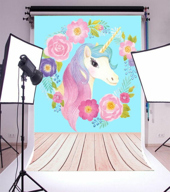 Abstract Flower Unicorn 3x5ft Photography Backgrounds