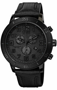 CITIZEN-MEN-039-S-WATCH-AT2205-01E-BRT-CHRONO-BNIB-TRIPLE-BLACK-LEATHER-STRAP-F-SH