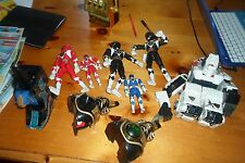 MMPR Mighty Morphin Power Rangers Tigerzord Thunder Zord & 5 Figures More! loose