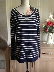 Sfera-Urban-Striped-Jumper-Size-L-New-With-Tags-jewellery-Not-Included-L1