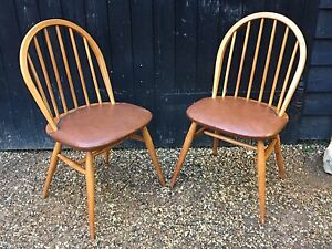 vintage 1950 039 s blonde ercol windsor kitchen chairs dining chairs