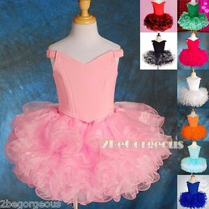 Girl-Birthday-Party-Costume-Dance-Occasion-Cupcake-Dress-Size-2-10-Years-PT001