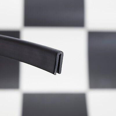 Medium Rubber/PVC U Channel Edging Trim Seal 2mm-3mm