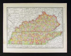 1914 McNally Map - Tennessee Kentucky - Louisville Nashville Memphis on st. louis kentucky map, sharp kentucky map, ky hwy map, rand mcnally home, lexington kentucky map, mapquest kentucky map,
