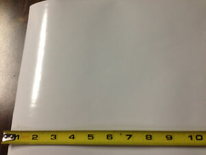 White Pvc Sheet Opaque Vinyl 010 Quot Thick X 12 Quot X 12 Quot W