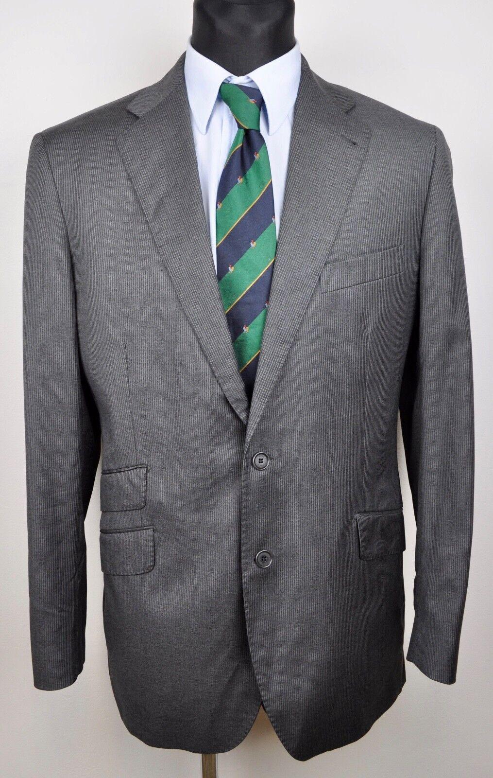 ROSE & BORN Super 120s Wool by LORO PIANA Charcoal Blazer UK 40 Coat EUR 50 Coat