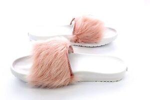 ugg royale baby pink toscana fur slides slippers size 11 us ebay
