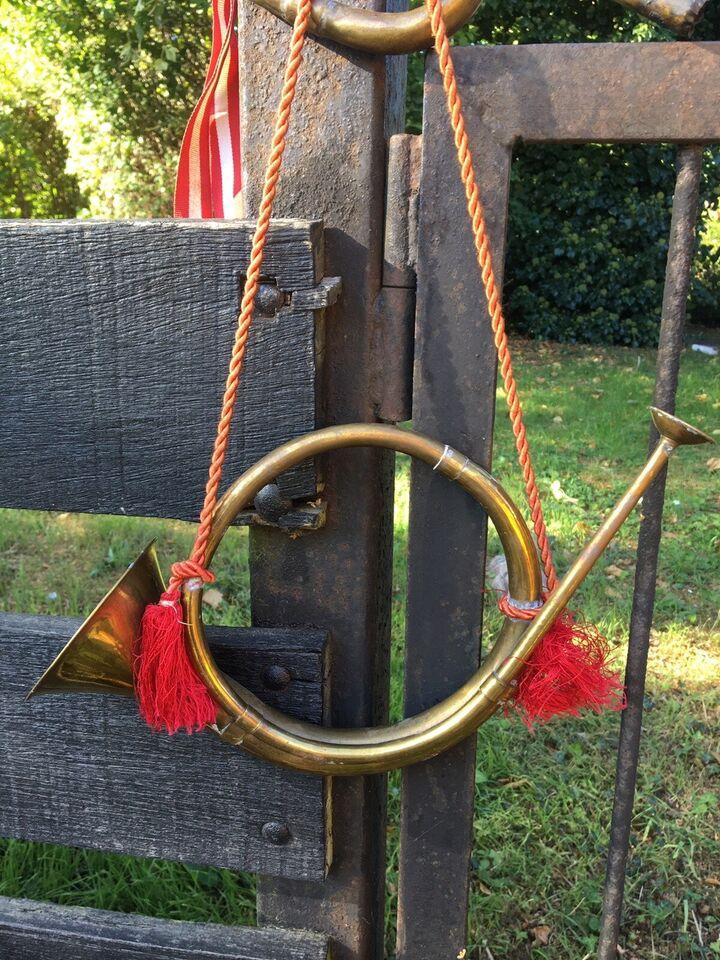 Smukt antik messing post-/jagt-/signal horn,