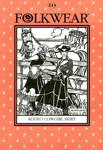 Western Rodeo Cowgirl Skirt Folkwear 243 Sewing Dance Riding Costume Pattern