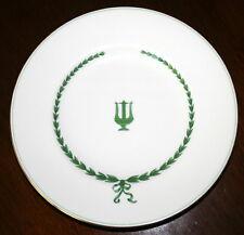 "Minton LYRE GREEN S107 Bone China Bread Plates 6 1/4""D ENGLAND"