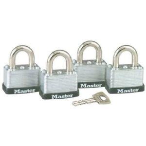 Master-Lock-3009D-Keyed-Alike-Warded-Padlock-Steel-1-1-2-inch-Wide-Body