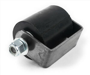 3-034-Rubber-Guide-Roller-on-weldable-steel-mounting-bracket-with-removable-pin