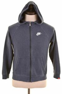 NIKE-Boys-Hoodie-Sweater-12-13-Years-Large-Navy-Blue-Cotton-LT19