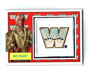 WWE-Ric-Flair-2017-Topps-Heritage-WWF-Com-Patch-Relic-Card-SN-257-of-299