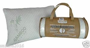 New Bamboo Memory Foam Hypoallergenic Comfort  Queen Pillow, White