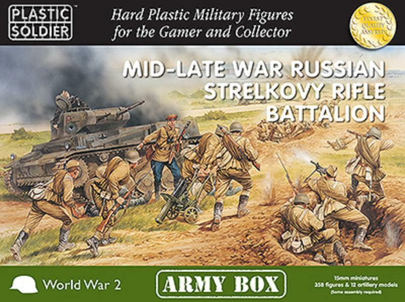 Mid-late guerra ruso Strelkovy Rifle Battalion-Plastic Soldier Company - 15MM