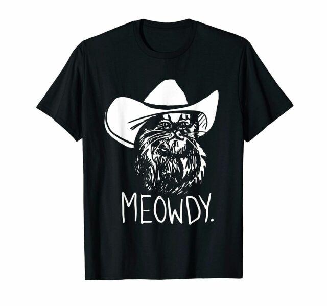 Meowdy Texas Cat Meme Funny T-Shirts Cotton Trend 2021
