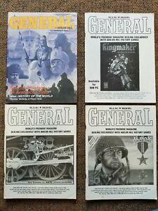 Lot of 4 AVALON HILL GENERAL 1993-1995 Vol 29 #1 & 3 Vol 30 #1 & 2 EXMT (D5)