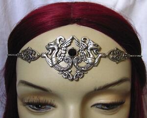 Gothic-RENAISSANCE-Medieval-Griffin-Gargoyle-Circlet-Crown-Headpiece-Headdress
