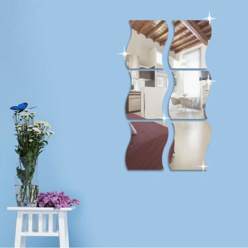 3D Mirror Wall Stickers Home Decors  Art Wall Sticker Removable Self Adhesive  W