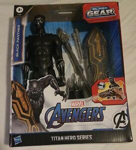 Marvel Avengers Titan Hero Series Blast Gear Deluxe Black Panther 12-Inch Figure