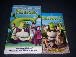 Shrek Vhs Lot Shrek 1 And 2 2001 And 2004 Rare Vg Animation Ebay
