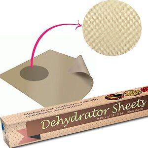 Image Is Loading Food Dehydrator Sheets Set Of 9 Premium 14