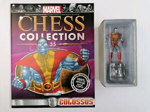 35 Colossus Marvel Chess Collection Eaglemoss White Rook