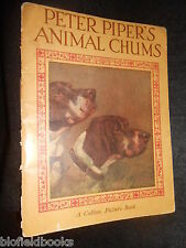 Peter Piper's Animal Chums - Vintage Illustrated Children's Book c1930s, Nature