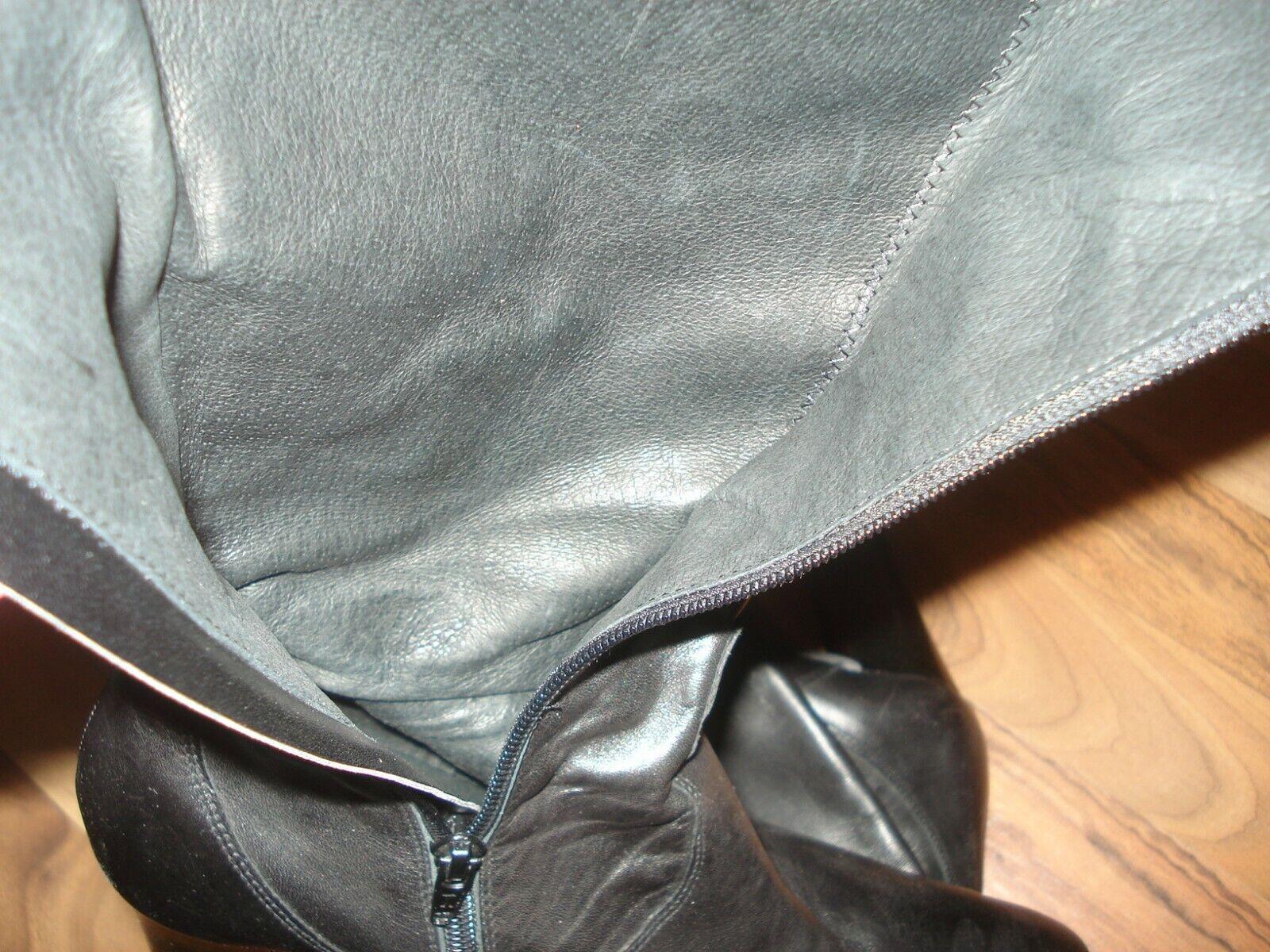 Stiefel schwarz Größe Größe Größe 38 neuwertig Alba Moda ungefüttert TOP ungefüttert a8efad