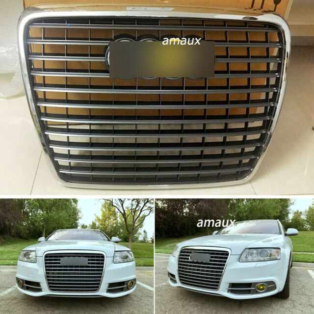 Front Bumper Grill Grille Car Front Grill Mesh Hood Bumper Honeycomb Grille Black Compatible for A-udi A6//S6 C6 2005-2011