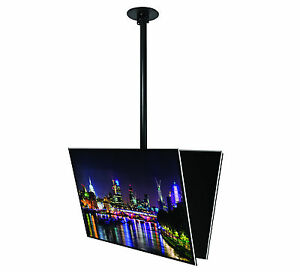 2m-drop-2-x-up-to-50-034-Back-to-Back-LCD-LED-Plasma-TV-Monitor-Ceiling-Mount