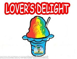 LOVERS-DELIGHT-SYRUP-MIX-Snow-CONE-SHAVED-ICE-Flavor-GALLON-CONCENTRATE-1FLAVOR